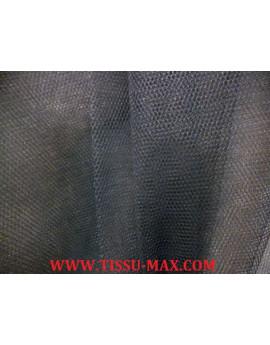 Tissu tulle rigide gris foncé