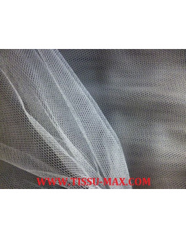 Tissu tulle rigide gris