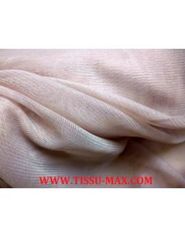 Tissu tulle très souple vieux rose