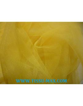 Tissu tulle souple jaune