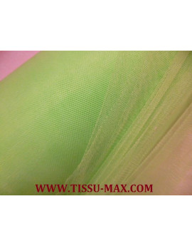 Tissu tulle souple vert anis