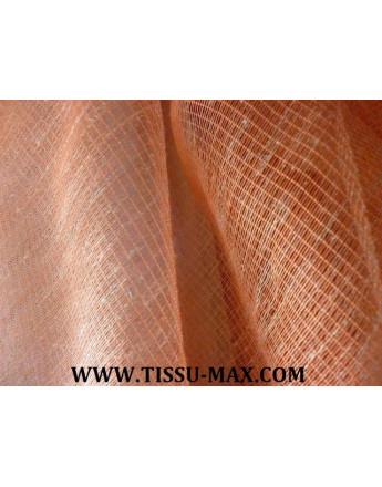 Tissu voile de lin orange