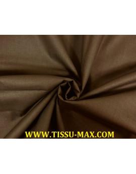 Tissu coton uni marron