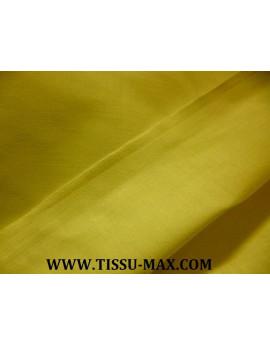 Tissu coton uni jaune citron