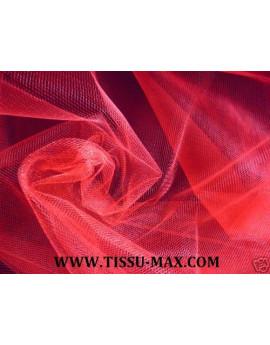 Tissu tulle souple rouge