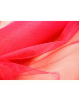 Tissu tulle rigide rouge