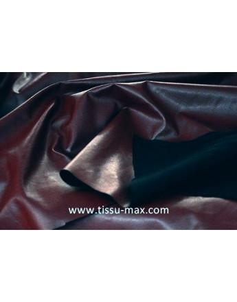 Tissu simili cuir souple rouge