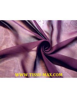 Tissu Mousseline de Soie Marron