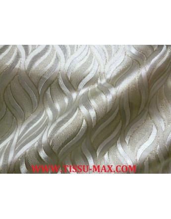 Tissu Brocart Noisette rose pale