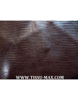 Tissu Simili Cuir Imprimé Serpent Marron