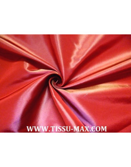 tissu taffeta rouge orange