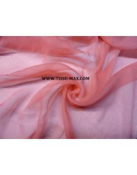 Mousseline de soie orange pale