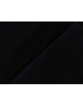 Tissu Crépon Noir