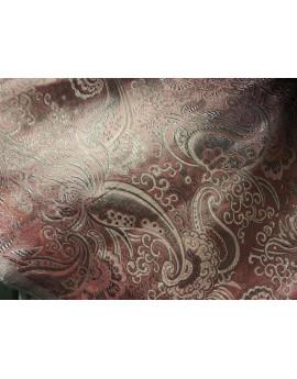 Tissu Brocart Noir Cachemire noir et argent