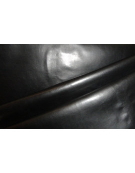 Tissu Simili Cuir Souple Noir