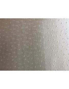 Tissu Simili Cuir Blanc Imprime Autruche