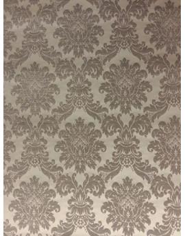 Tissu Ameublement Baroque Blanc