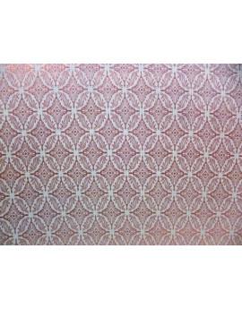 Tissu Brocart Noir et Argent