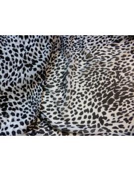 Tissu Mousseline Polyester Imprimée A58