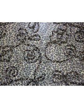 Tissu Mousseline Polyester Imprimée A56