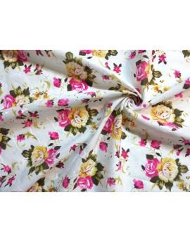 Tiss Coton Brodé fleur d'été 0.