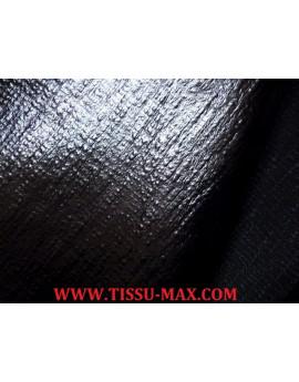 Tissu Simili Cuir Imprimé Lézard Noir brillant