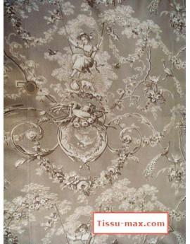 Tissu Jouy 02 Marron largeur 280cm
