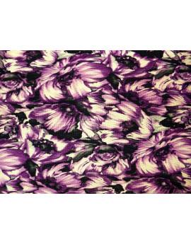 Tissu Mousseline brillant  ROSE
