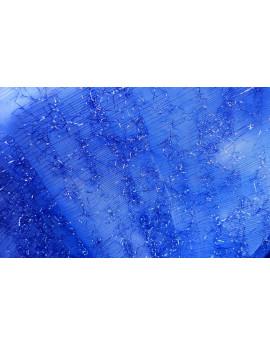 Tissu Polyester Charleston Mutlicouleur fond Noir