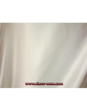 Tissu Satin Elastique Blanc