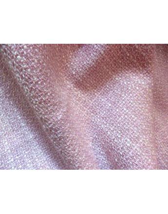 Tissu Lain - Viscose - Polyester Rose Pâle