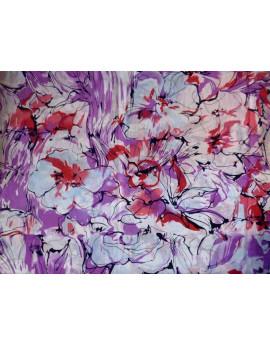 Tissu Voile de Coton Imprimé Fleurs d'été M13