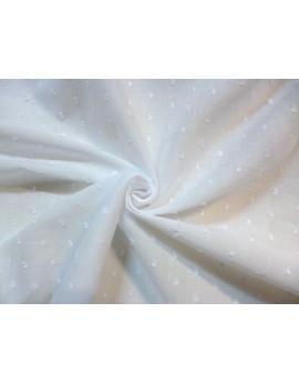 Tissu Voile de Coton Plumetis Blanc