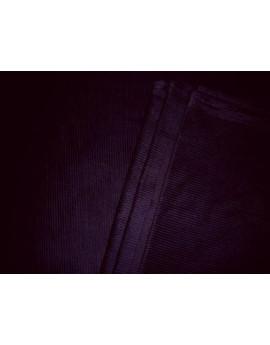 Tissu Velour Cotelé Noir