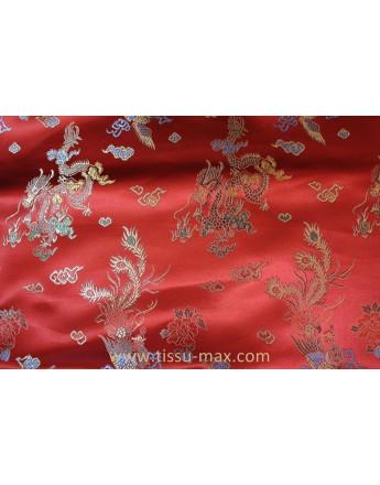 Tissu Chinois Rouge