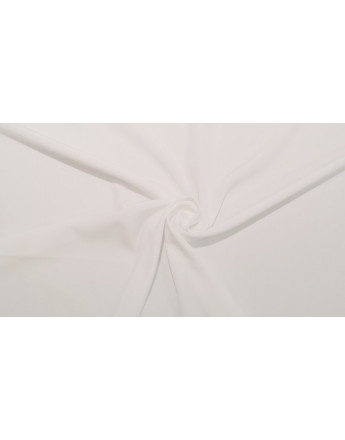 Tissu Crêpe de chine Blanc