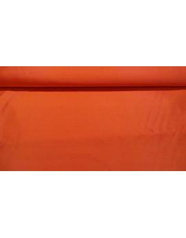 Tissu Soie Sauvage Uni Orange
