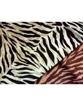 Tissu Peau Bête Imprime Tigre Double Face