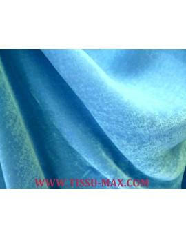 Tissu Velours de Soie Vert Anis