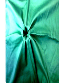 Tissu Satin Coton Turquoise