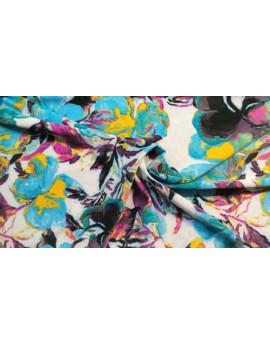 Tissu Jersey Polyester Imprimé Fleur d'été