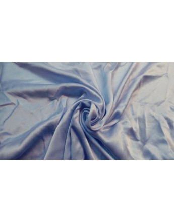 Tissu Satin polyester Bleu ciel