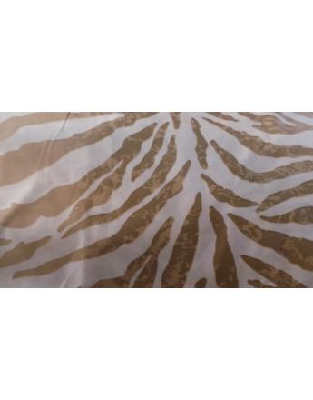 Tissu Peau Bête Imprime Zèbre marron