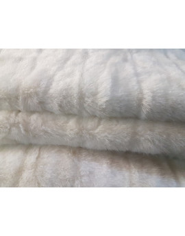 Tissu Fausse Fourrure Poils Court Blanc