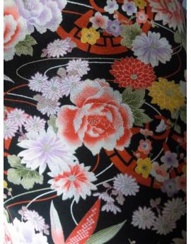Tissu Crêpe Polyester Imprimé Japonais