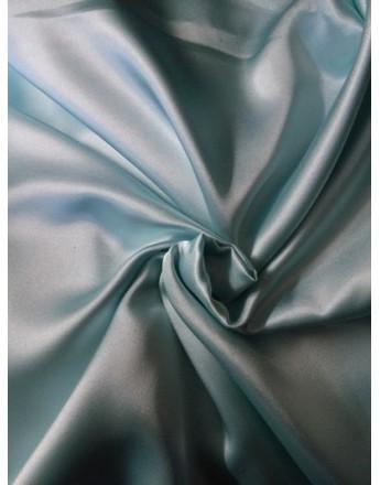 Tissu Satin Elastique Bleu turquoise clair