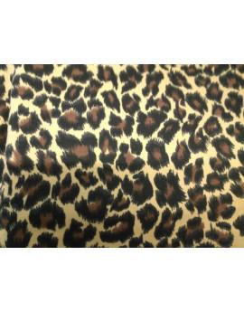 Tissu coton imprimé léopard