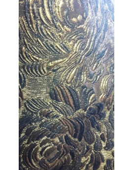 Tissu brocart fleur d'or