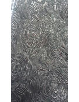 Tissu Brocart gris