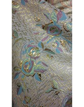 Tissu Brocart Fleur 007